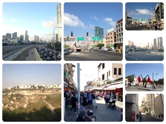 テルアビブとエルサレムの風景。
