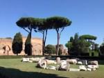 世界遺産。 ローマ帝国第22代皇帝カラカラがローマ市街の南端付近に造営したローマ浴場。