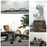 ロン橋とベトナムのマーライオン。