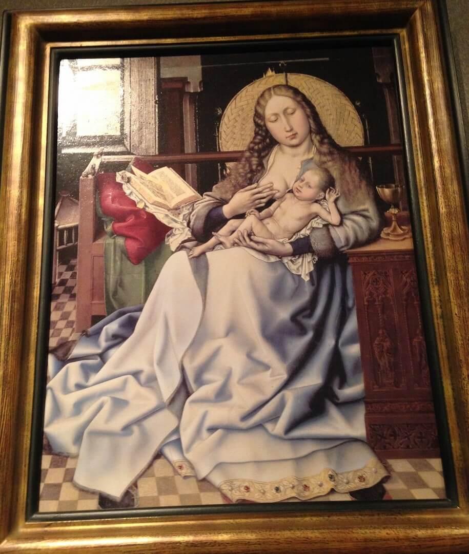 暖炉衝立の前の聖母子