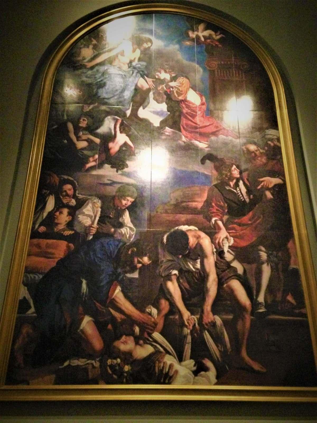聖女ペトロネラの埋葬と被昇天