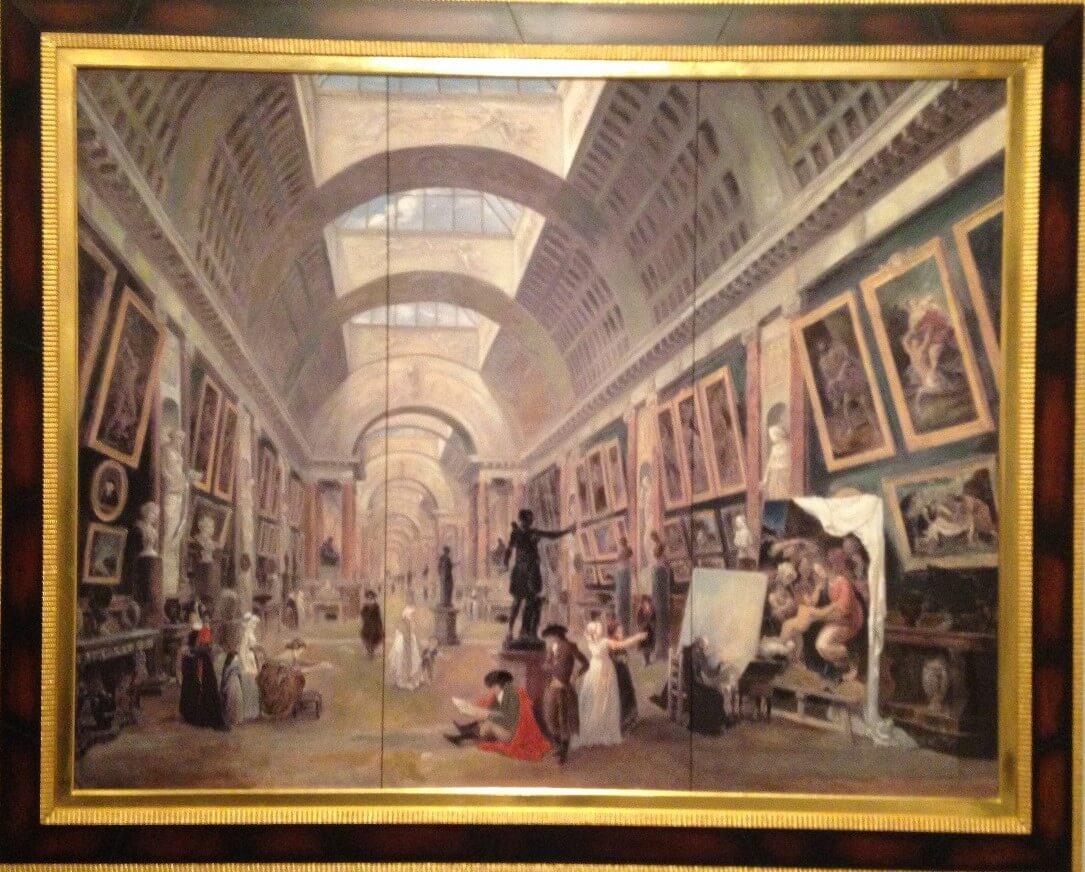 ルーブル美術館グランド・ギャラリーの改造計画