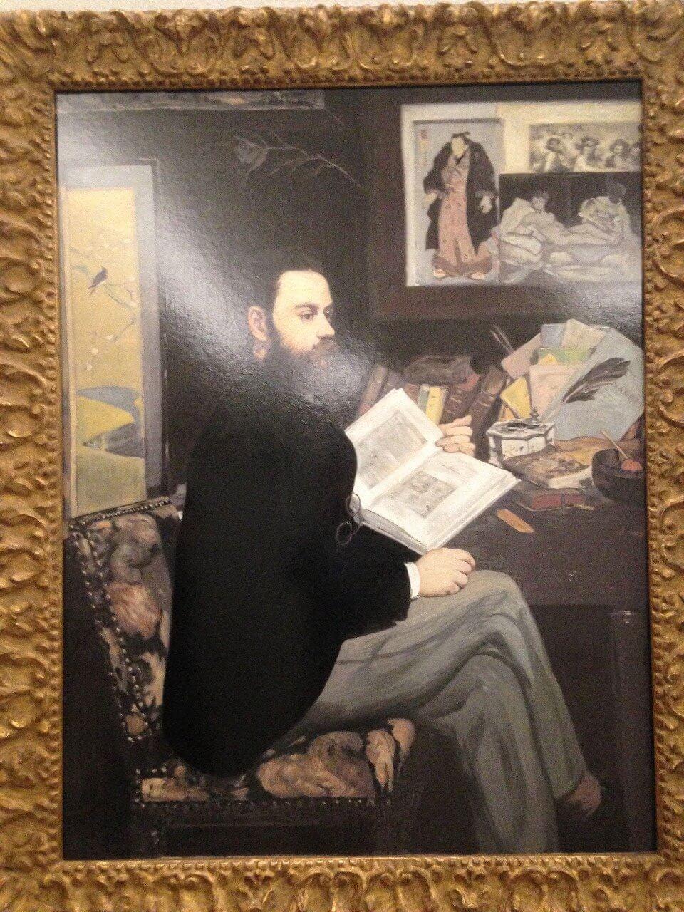 エミール・ゾラの肖像 エドゥアール・マネ