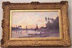 オワーズ川の日没 シャルル=フランソワ・ドービニー