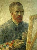 イーゼルの前の自画像 ファン・ゴッホ