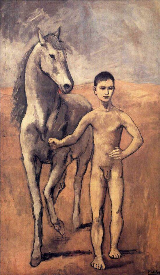 馬を引く少年 パブロ・ピカソ