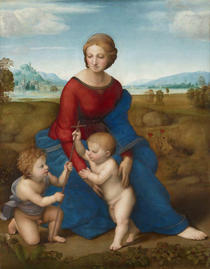 牧場の聖母 ラファエッロ・サンツィオ