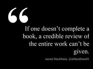 Naomi Blackburn DNF quote
