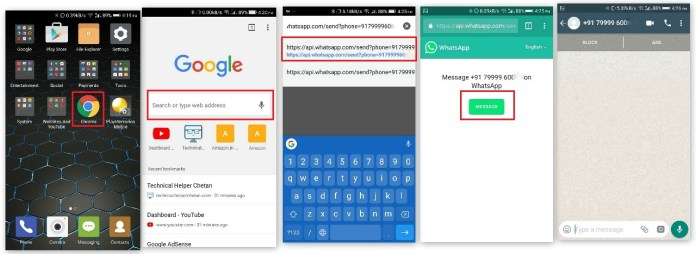 send WhatsApp Message without savingcontact number