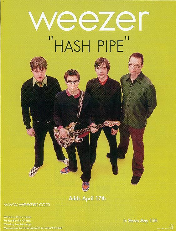 Advertisement for Weezer's Green Album