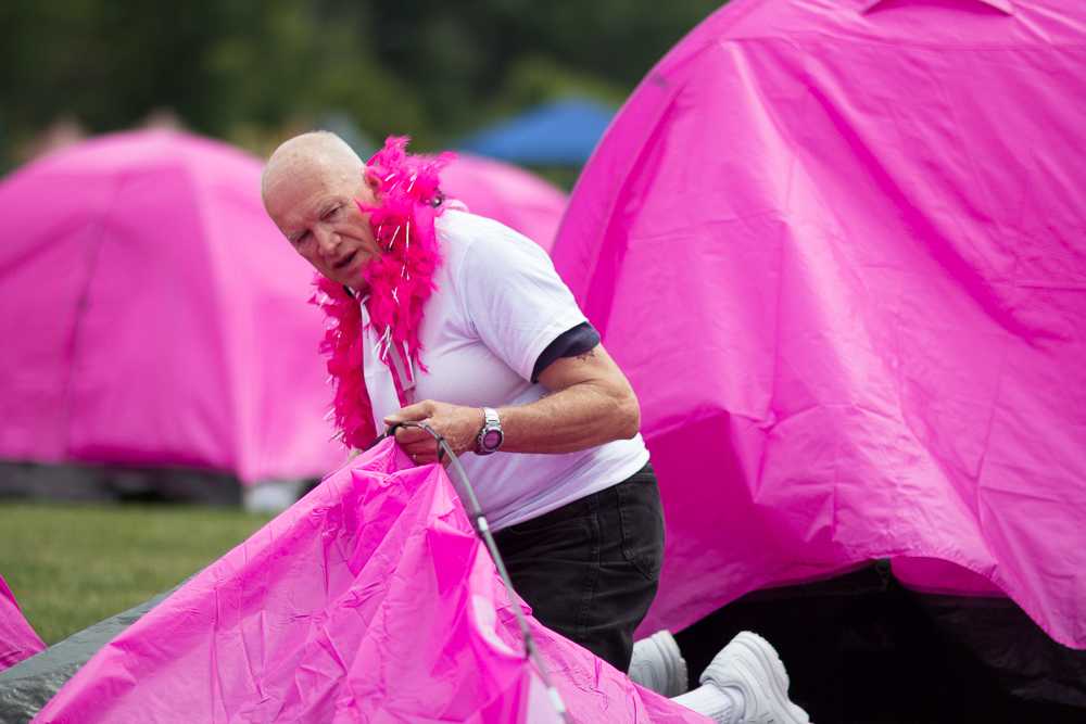pink tent boa 2013 Cleveland Susan G. Komen 3-Day breast cancer walk