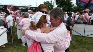 3 survivors.  Jennifer, her mom and her aunt, share a special moment at the Chicago 3-day Closing Ceremonies.