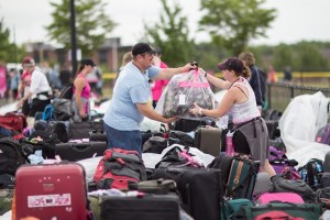 Gear is packed for 3-Day walk to end breast cancer.