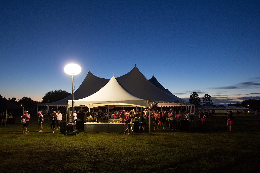 dining tent 2013 Tampa Bay Susan G. Komen 3-Day breast cancer walk