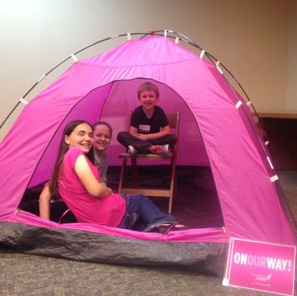 2014 susan g. komen 3-day breast cancer walk dallas fort worth pink tent kids