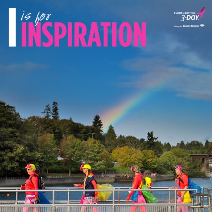 Inspiration Susan G Komen 3 Day Breast Cancer Walk Rainbow