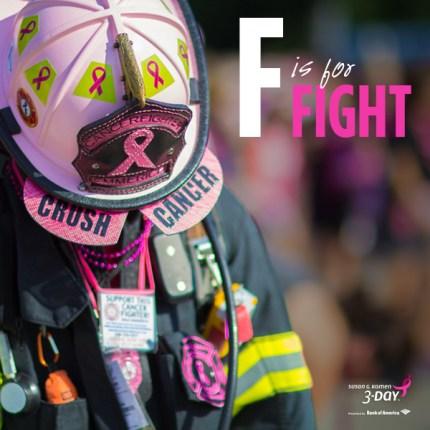 susan g. komen 3-Day breast cancer walk fight