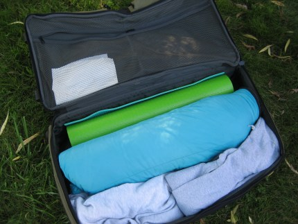 susan g. komen 3-day breast cancer walk blog camping hacks yoga mat luggage