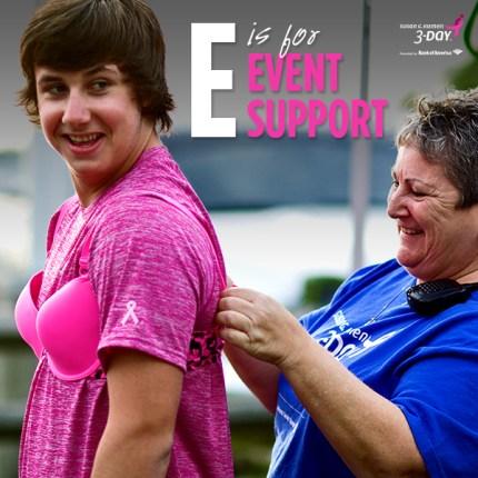 susan g. komen 3-day breast cancer walk crew blog ABCs  event support