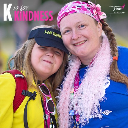 susan g. komen 3-Day breast cancer walk blog ABC's of the 3-Day crew kindness