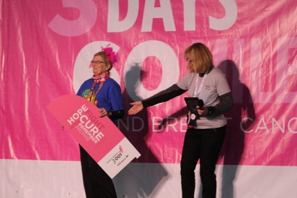 susan g. komen 3-Day breast cancer walk blog philadelphia award winners local impact award