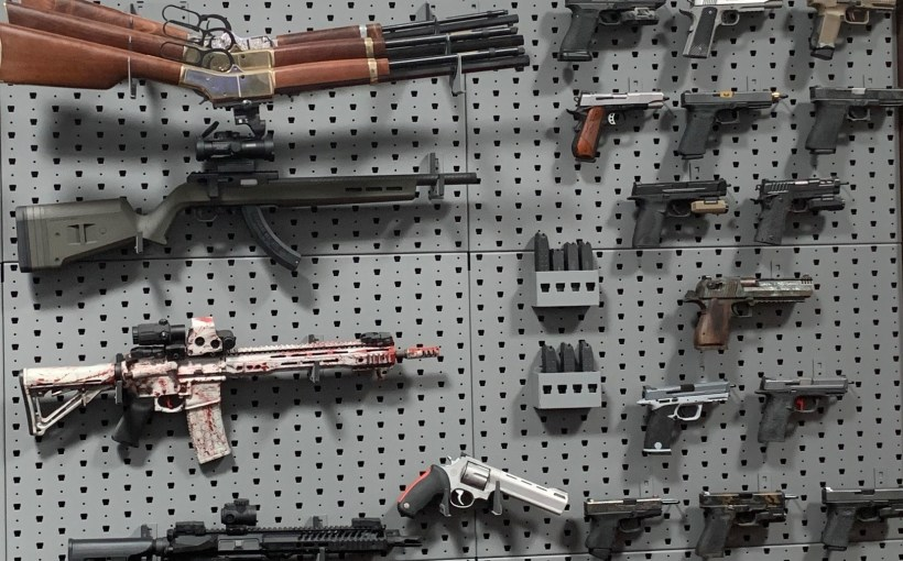 GallowTech gun wall with rifles and pistols for preemption