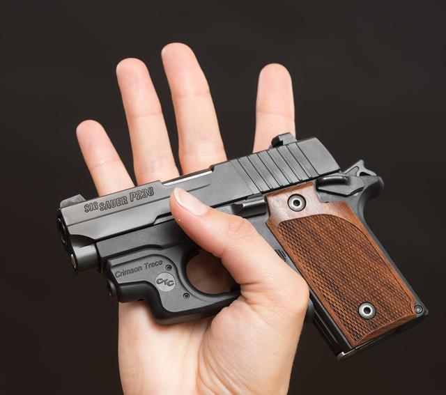 SIG Sauer P238 .380 pistol breaking self-defense gun myths