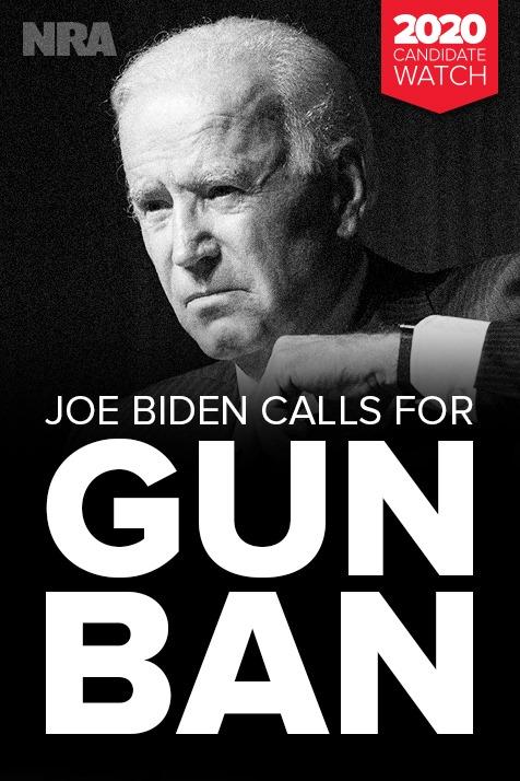 joe biden scowling on a gun control banner