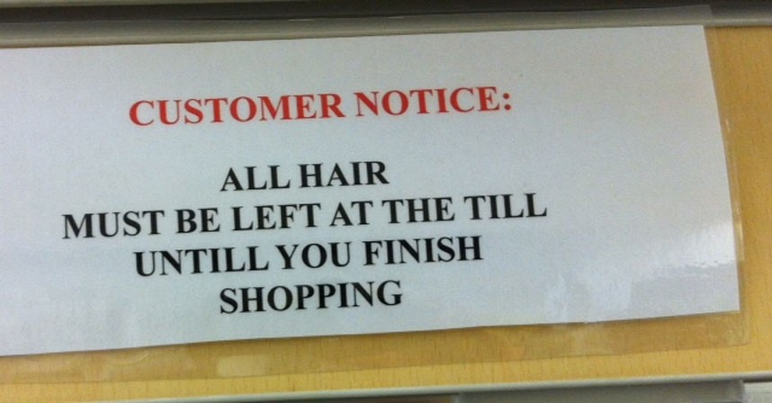 Tough stance on hair