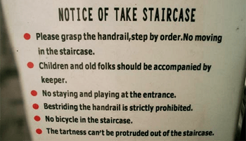 Using stairs has never been so complicated