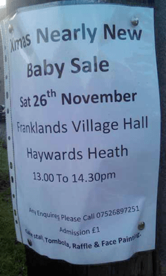 For all your nearly new baby requirements