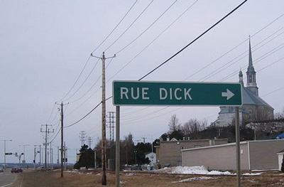 The French at home or abroad always thinking of their rues Quebec