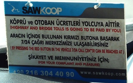 Like to complain feel free in Istanbul
