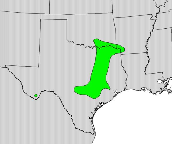 Maclura pomifera range map