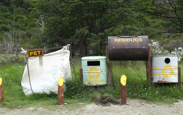 Pets recycled here Ushuaia Argentina