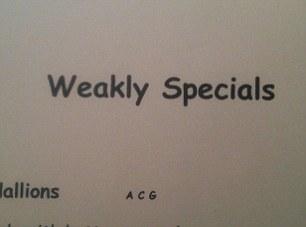 Weakly specials