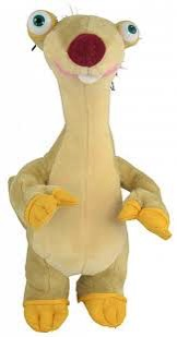 Plush Sid you know from the animated movie Ice Age