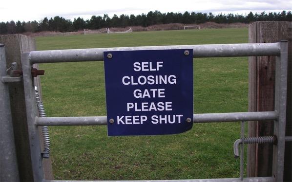 Scottish self closing gates