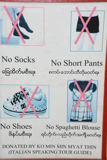 Burma dress code for Italians