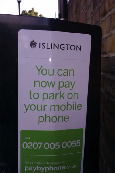 I don t want to park on my mobile phone