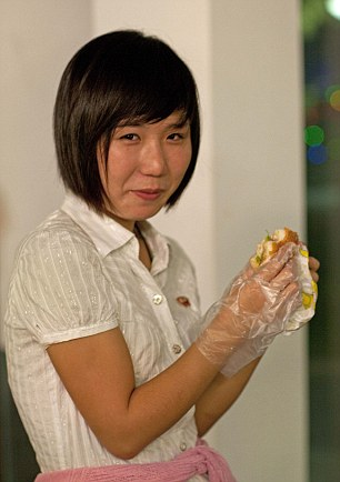 North Korean does she know whats in the Burger