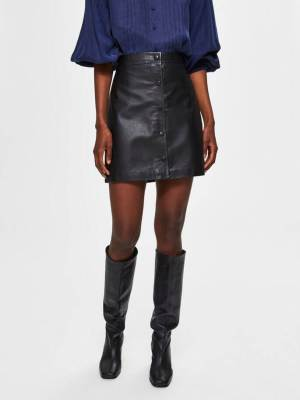 Rent Autumn 2020 Selected Femme Leather Skirt