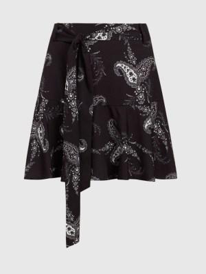 Mix basics with premium AllSaints skirt