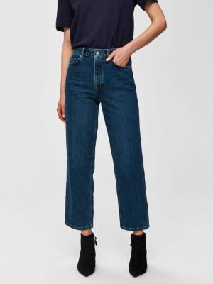 SELECTED FEMME HIGH WAIST STRAIGHT FIT JEANS
