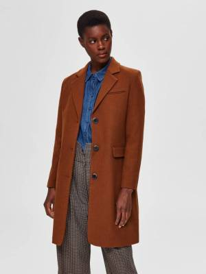 Rent SELECTED FEMME SINGLE BREASTED WOOL COAT