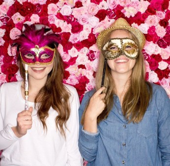 flower wall backdrop for photobooth one