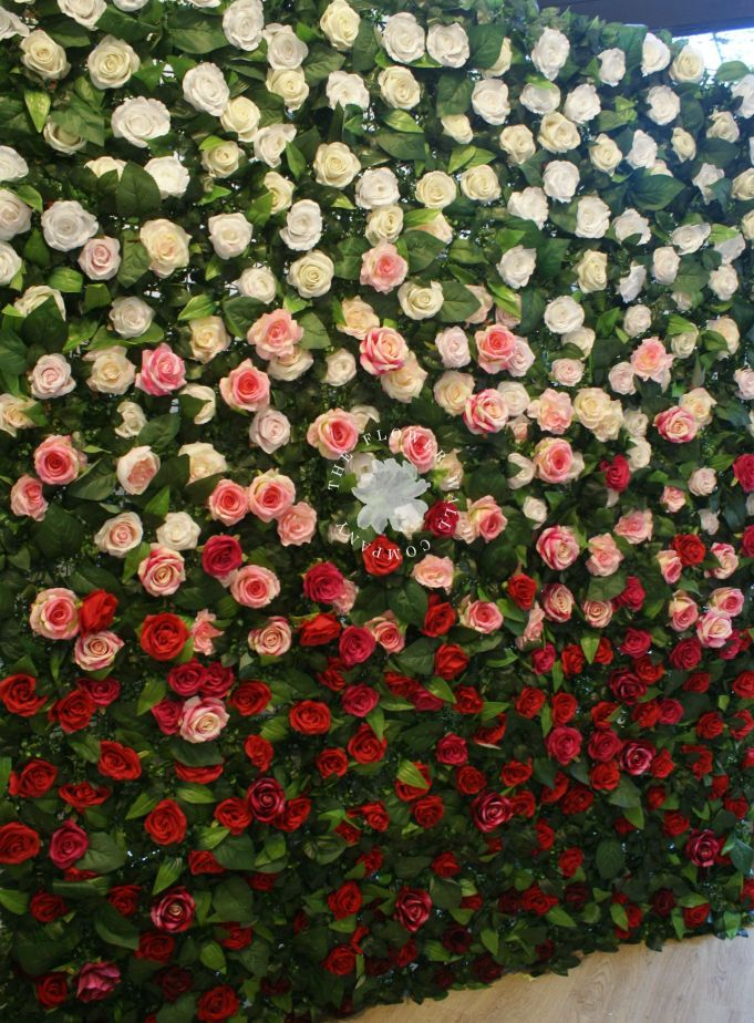 Garden Rose Ombre Flower Wall, ombre flower wall, floral backdrop, ombre wedding, wedding props, wedding styling, wedding flower wall