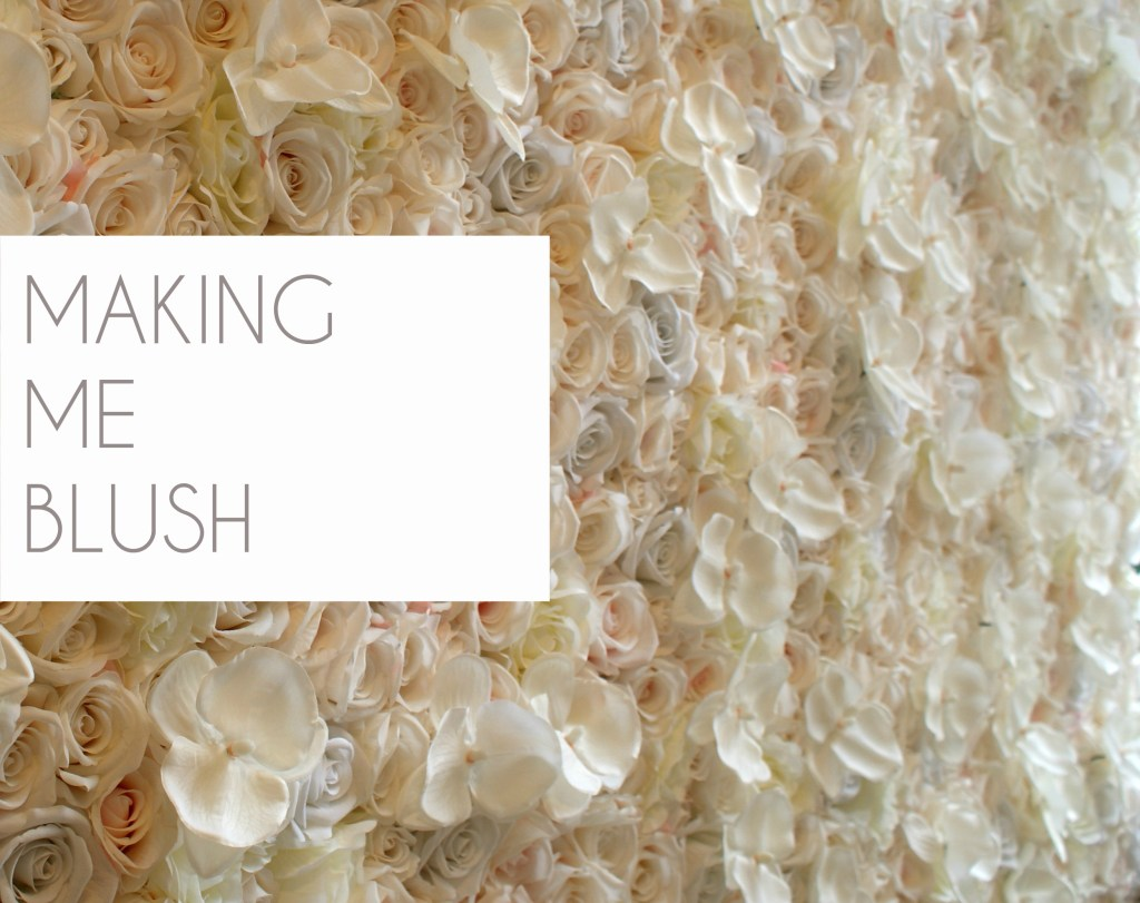 Blush flower wall karen tran flower wall