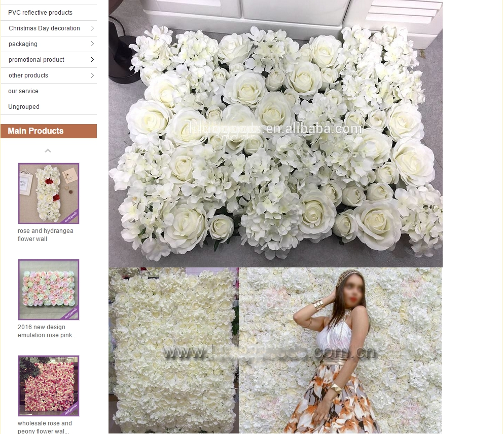 cheap alibaba flower wall