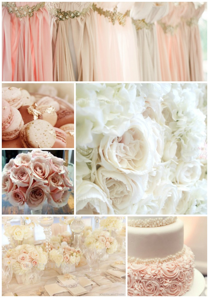 blush color flower wall karen tran wedding